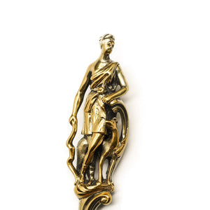 Victorian Silver Gilt Sugar Sifter Spoon 'Diana the Huntress' Figure - Francis Higgins 1854 - Artisan Antiques