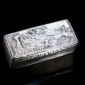 A Georgian Solid Silver Snuff Box with Pheasant Scene - Thomas Shaw 1834 - Artisan Antiques