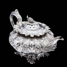 Load image into Gallery viewer, RESERVED - A Spectacular Antique Solid Silver Tea Set/Service with Highly Decorative Embossed/Chased Design - R W Smith 1837 - Artisan Antiques