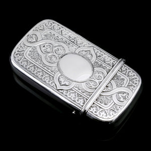 A Very Large Solid Silver Victorian Cigar/Cheroot Case - George Unite 1871