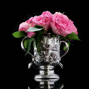 Georgian Solid Silver Loving Cup / Two Handled Cup - London 1748 - Artisan Antiques