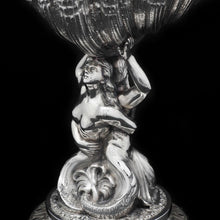 Load image into Gallery viewer, A Magnificent Victorian Solid Silver Figural Centrepiece Bowl - Henry Lewis 1896 - Artisan Antiques