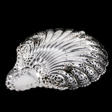 Load image into Gallery viewer, Antique Victorian Large Solid Silver Scallop-Shaped Dish/Bowl - Henry Atkin 1899 - Artisan Antiques