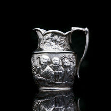 将图片加载到图库查看器中, Antique Victorian Solid Silver Milk Jug/Pitcher with Figural Tavern Scene - Thomas Smily 1876 - Artisan Antiques