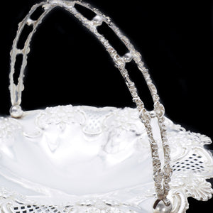 Victorian Solid Silver Fruit Basket - William Devenport 1897 - Artisan Antiques