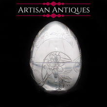 Load image into Gallery viewer, Solid Silver Russian Easter Egg with Gilt Interior- P. Barabanon 19th Century - Artisan Antiques