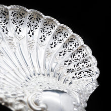 Load image into Gallery viewer, A Large Solid Silver Scallop-Shaped Dish/Bowl - Henry Atkin 1908 - Artisan Antiques