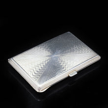 Load image into Gallery viewer, Solid Silver Guilloché Enamel Cigarette Case - F B Reynolds 1926 - Artisan Antiques