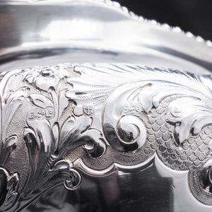Antique Solid Silver Kettle with Ornate Chased Motifs - Elkington & Co. 1904 - Artisan Antiques