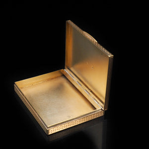 A Stylish Solid Silver Gilt Box/Case -  French 19th Century - Artisan Antiques