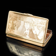 Load image into Gallery viewer, Fine Engraved French Silver Gilt Snuff Box - c.1850 - Artisan Antiques