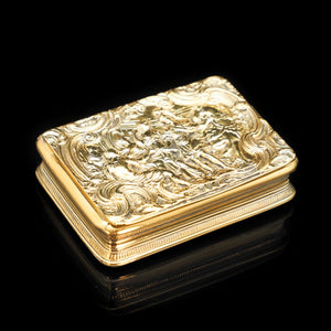 "Magnificent Georgian Silver Gilt ""Alexander the Great"" Snuff Box - 1809 London - Artisan Antiques"