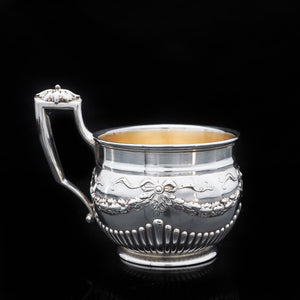 A Delightful Solid Silver Mug/Cup - E. Goldschmidt c.1910 Germany - Artisan Antiques