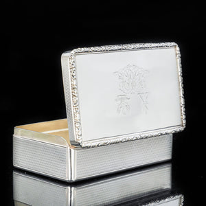 A Thick Solid Silver Table Snuff Box Georgian - Edward Edwards 1833 - Artisan Antiques