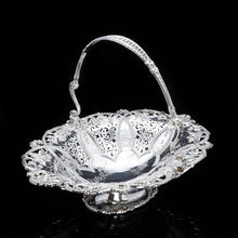 Load image into Gallery viewer, A Stunning Large Victorian Solid Silver Basket - Martin Hall & Co 1858 - Artisan Antiques