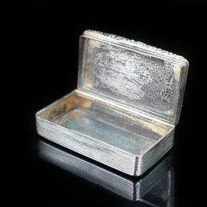 Antique Georgian English Solid Silver Snuff Box - c.1800 - Artisan Antiques