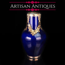 Load image into Gallery viewer, Antique French Sevres Vase Silver Mounted - Paul Milet c.1900 - Artisan Antiques