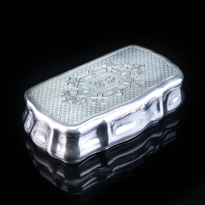 Antique Imperial Russian Silver Table Snuff Box with Vermeil - 19th Century. - Artisan Antiques