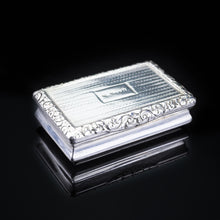 Load image into Gallery viewer, Antique Georgian Silver Snuff Box with Exquisite Chased Design - 1822 - Artisan Antiques