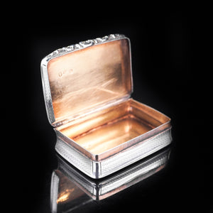 Antique Victorian Silver and Rose Gold Snuff box with Gilt Interior - 1837 - Artisan Antiques