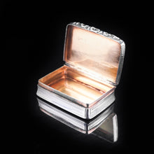 Load image into Gallery viewer, Antique Victorian Silver and Rose Gold Snuff box with Gilt Interior - 1837 - Artisan Antiques