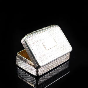 Antique Georgian Silver Snuff Box with Gilt Interior - 1824 - Artisan Antiques