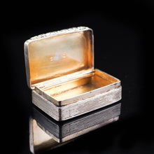 Load image into Gallery viewer, Antique Georgian Silver Snuff Box with Gilt Interior - 1824 - Artisan Antiques