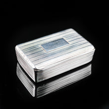 Load image into Gallery viewer, Antique Georgian Silver Snuff Box with Reeded Design - 1824 - Artisan Antiques