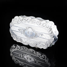 Load image into Gallery viewer, Antique Victorian Silver Snuff Box with Hand Engraved Acanthus Motifs - 1849 - Artisan Antiques
