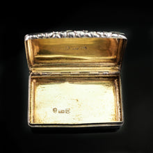 Load image into Gallery viewer, Antique English Georgian Silver Snuff Box with Gilt Interior - 1827 - Artisan Antiques