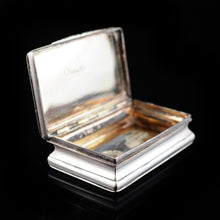 Load image into Gallery viewer, Antique Victorian Silver Snuff Box - 1840 Neustadt & Barnett - Artisan Antiques