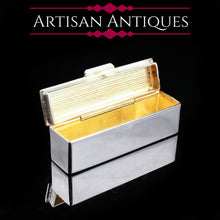 Load image into Gallery viewer, Micro Solid Silver and Gilt Toothpick/Snuff Box - c.1980s - Artisan Antiques