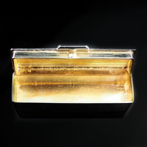 Micro Solid Silver and Gilt Toothpick/Snuff Box - c.1980s - Artisan Antiques