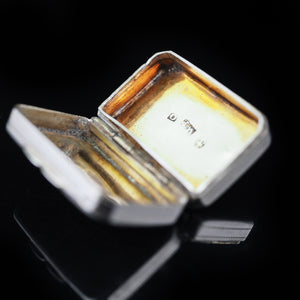 Antique Georgian Silver Vinaigrette by William Pugh - 1812 - Artisan Antiques