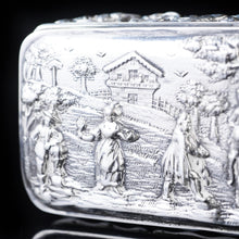 将图片加载到图库查看器中, Antique High Relief Silver Snuff Box with Country Scene - Thomas Hayes 1897 - Artisan Antiques