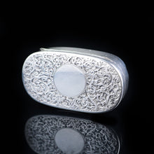 将图片加载到图库查看器中, Antique Solid Silver Pill / Snuff Box by Cornelius Saunders & Frank Shepherd - 1890 - Artisan Antiques