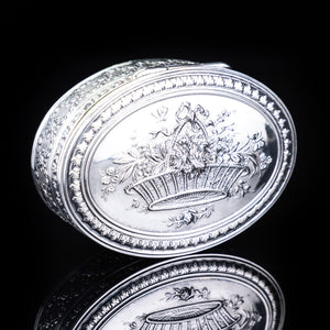 Antique French Silver Detailed Table Snuff Box - c.1900 - Artisan Antiques