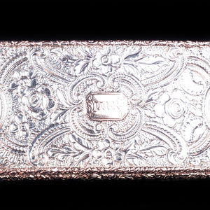 Magnificent Georgian Rose Gold & Silver Table Snuff Box - William Parker 1824 - Artisan Antiques