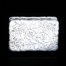 Load image into Gallery viewer, Victorian Silver Hand Engraved Snuff Box by Edward Smith - 1857 - Artisan Antiques