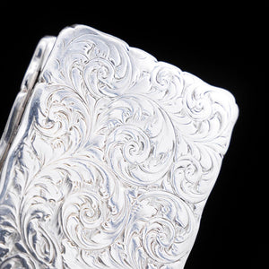 Victorian Silver Hand Engraved Snuff Box by Edward Smith - 1857 - Artisan Antiques