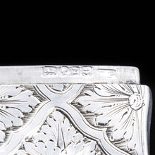 将图片加载到图库查看器中, Victorian Silver Card Case with Spectacular Bright Cut Engravings -David Pettifer 1848 - Artisan Antiques