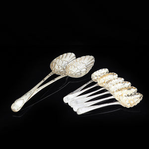 Set of 6 Georgian Berry Tea/Dessert Spoons - c1800s - Artisan Antiques