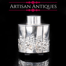 Load image into Gallery viewer, Solid Silver Tea Caddy with Decorative Repousse - Artisan Antiques