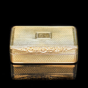 Antique Georgian Silver Gilt Snuff Box - William Edwards 1817 - Artisan Antiques
