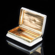 Load image into Gallery viewer, Georgian Solid Silver Snuff Box with Gilt Interior - Birmingham 1823 - Artisan Antiques