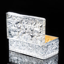 将图片加载到图库查看器中, Raised Scenic Silver Table Snuff Box with Gilt Interior - Berthold Muller - Artisan Antiques