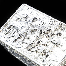 Load image into Gallery viewer, Raised Scenic Silver Table Snuff Box with Gilt Interior - Berthold Muller - Artisan Antiques