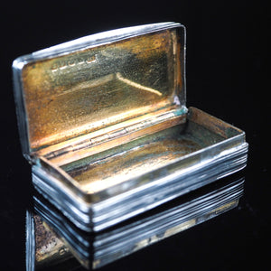 Antique English Georgian Silver Snuff Box - c.1784 - Artisan Antiques