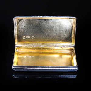 Antique English Pocket Snuff Box - Nathaniel Mills 1825 - Artisan Antiques