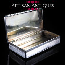 将图片加载到图库查看器中, Antique English Solid Silver Table Snuff Box - Birmingham 1833 - Artisan Antiques